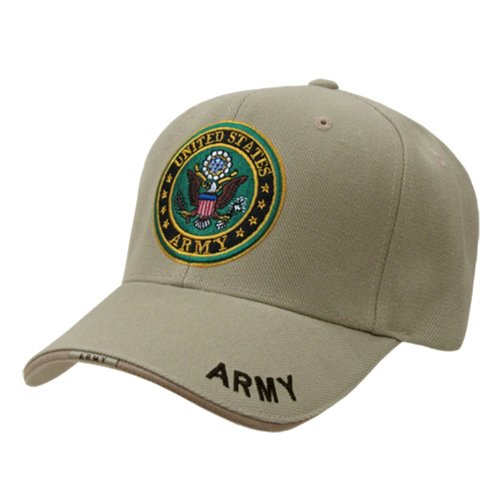 - RAPID DOMINANCE The Legend, Military Branch Caps (Adjtable , Army Khaki)
