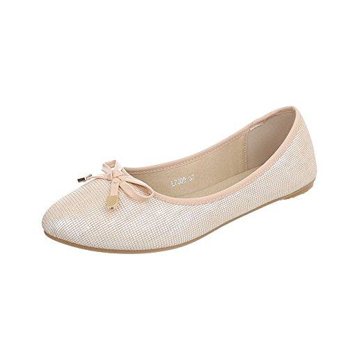 low L7309 da donna Sneaker Ital Design Scarpe oro Sneakers piatto qFAfASX
