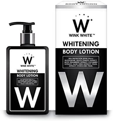New-Wink-White-Whitening-Body-Lotion-Skin-Care-Black-Tomato-Extract-Strawberry.Net 200 ml.
