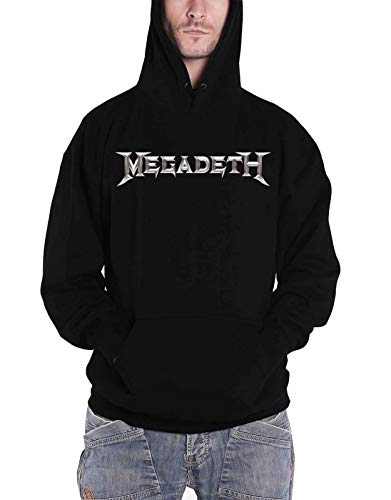 Megadeth Hoodie Countdown to Extinction Band Logo Official Mens Black Pullover Size XXL