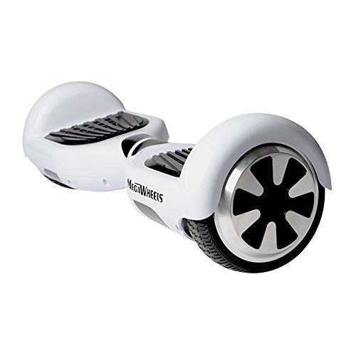 Megawheels Tw01-1 6.5' Hoverboard UL 2272 Certified Dual Motors 350W2 Self-Balancing Smart Scooter (White)