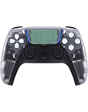 eXtremeRate Clear Touchpad Front Housing Shell for PS5 Controller, DIY Replacement Shell for PS5 Controller, Custom Touch Pad Cover Faceplate for Playstation 5 Controller