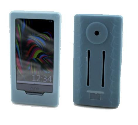 6 in 1 Accessory Combo for Microsoft Zune HD 16GB / 32GB Series: Includes Two Silicone Skin Cases (One Pink and One Blue) + Screen Protector + Belt Clip + Armband + Light Blue Fishbone Style Keychain