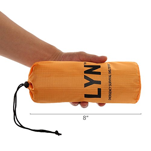 Emergency Survival Tent Shelter Thermal Bronze Paracord 550 (Military Grade) 2 Person Waterproof Lightweight Survival Tent