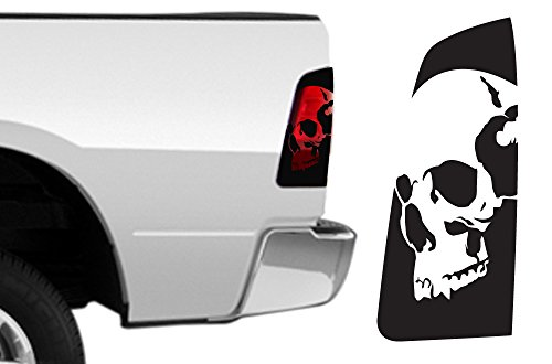 Decal Graphics Kit (FactoryCrafts Dodge Ram 2009-2018 Brakelight Decal Graphics Kit 3M Vinyl Wrap Skull - Matte Black)