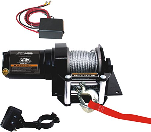 (Bulldog Winch 15001 Winch (2000lb ATV with Mini-Rocker Switch, Mounting Channel, Roller Fairlead, 50 ft. Wire Rope))