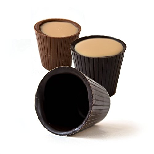 Chocolate Mousse Glass (Lang's Chocolates Dark Chocolate Shot Glasses 16 Piece Box)