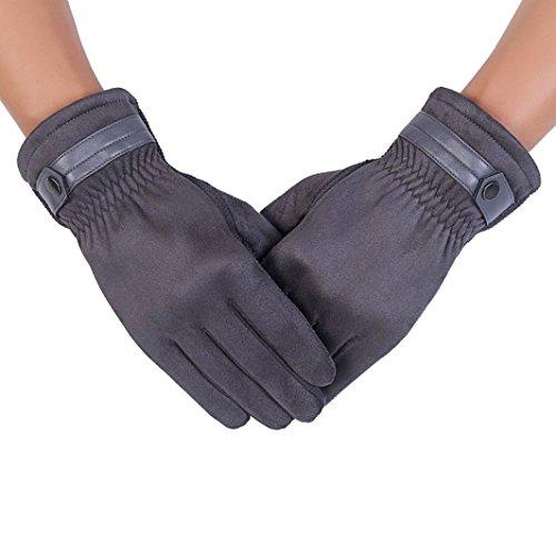 Gift! Wensltd Anti Slip Men Warm Touch Screen Motorcycle Gloves (Gray)