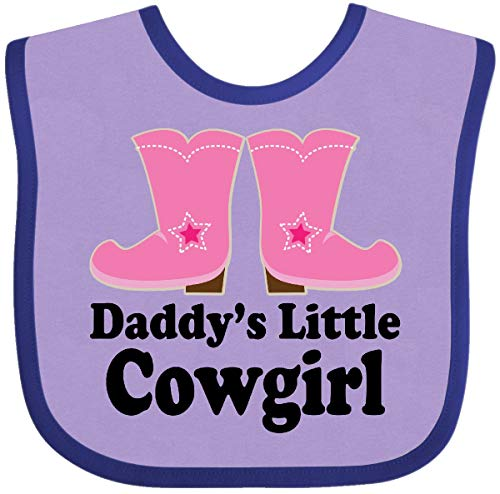 Inktastic - Daddy's Little Cowgirl Baby Bib Lavender and Purple -