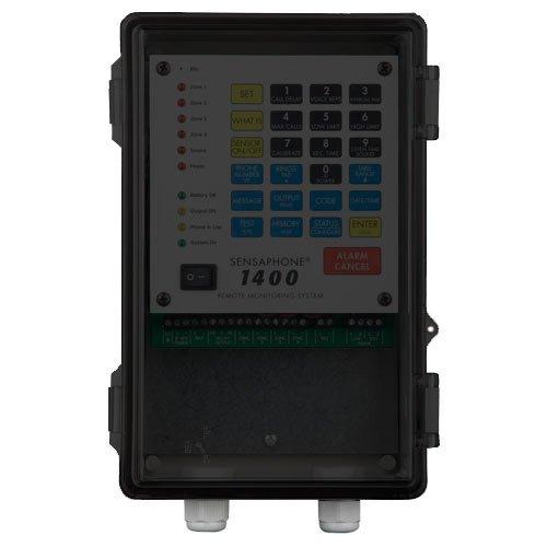 Sensaphone 1400 Remote Monitor, NEMA4X Enclosure Solid Door by Sensaphone