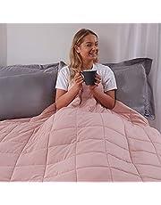 Brentfords Gewogen deken 6kg voor volwassenen tieners Kids Therapie Sensorische Angst Autisme Slapeloosheid Stress Relief, Dubbel - Blush Roze - 125 x 180cm