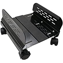 Syba Steel Computer Stand for ATX Case with Adjustable Width and 4 Caster Wheels - SY-ACC65057