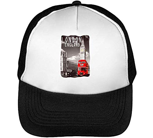 England Red Bus Fashioned Gorras Hombre Snapback Beisbol Negro Blanco