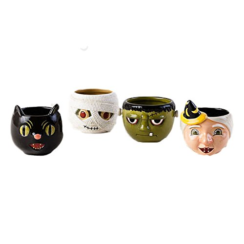 One Hundred 80 Degrees Halloween Characters Mugs (Set/4) -