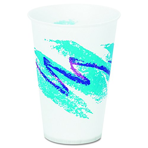 SOLO Cup Company R7NJ Jazz Waxed Paper Cold Cups, 7oz, Tide Design, 100 per Pack (Case of 20 Packs) by Solo Foodservice