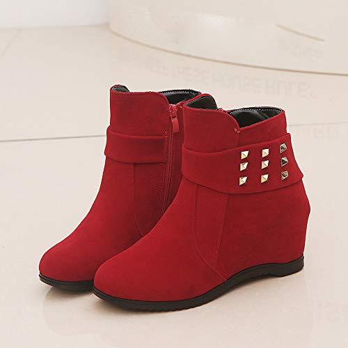 Rojo Ccasual De Botas Plataforma Jeans Cuña Botas Pepe Plataforma Tacon Moda De ALIKEEY Zapatos Esparto Aumentó Mujeres aSPCxwPzq