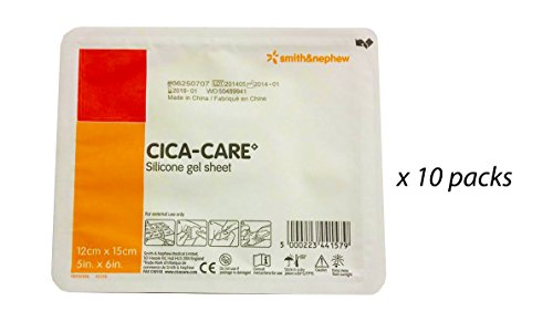 CICA-CARE Gel Sheet by Smith and Nephew 5x6'', 10 pks by Cica-Care