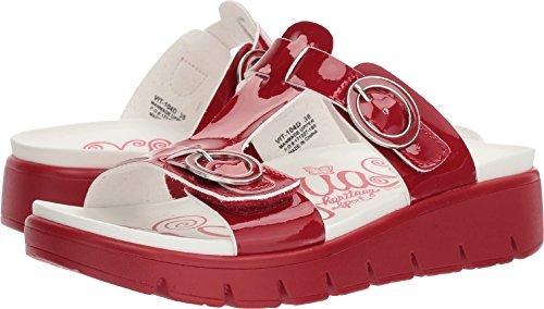 Sandals Red Patent (Alegria Womens Vita Sandal, Duo Red Patent, Size 37 EU (7-7.5 M US Women))