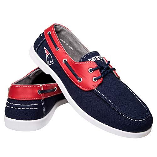 FOCO NFL New England Patriots Men's Side Logo Canvas Footwear, Team Color, X-Large ()