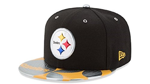 Leather New Cap Era (NFL PITTSBURGH STEELERS 2017 Draft Spotlight 59FIFTY Fitted Cap, Size 7 1/4, Black)