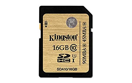 Kingston Digital 16GB SDHC Class 10 UHS-I Ultimate Flash Card (SDA10/16GB) Kingston - Digital Imaging Flash Memory Devices