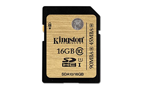 Kingston SDA10/16GB - Tarjeta SD Profesional de 16 GB (UHS-I SDHC/SDXC Clase 10)