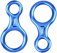 Azarxis 35 KN Climbing Rescue Figure 8 Descender Rigging Plate Heavy Duty & Large & High Strength Rapp
