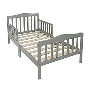 Alooter Toddler Bed Frame Guardrail Classic Design, Bed for Kids Sturdy Wooden Frame for Extra Safety with Headboard and Footboard (Toddler Brown) 9
