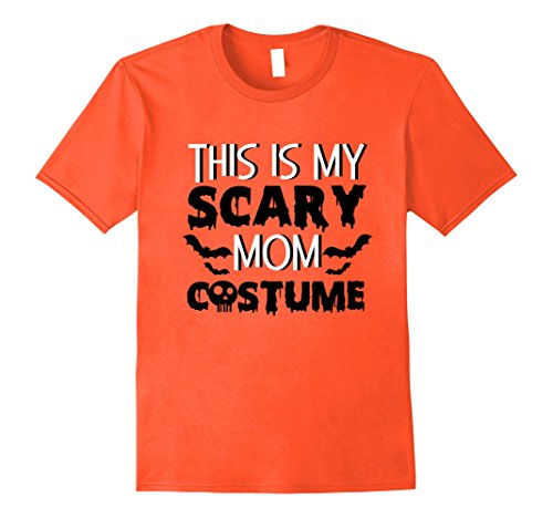 Cute Middle School Halloween Costume Ideas (Mens This is My Scary Mom Costume Shirt Skull Skeleton Bats XL Orange)