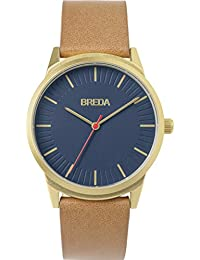 Men's 'Bresson' 5020b Gold Stainless Steel and Brown Leather Strap Watch, 39MM