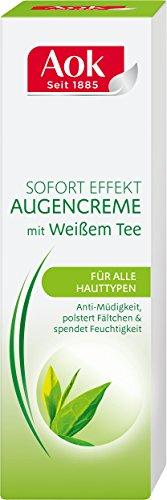 Aok Augencreme Sofort Effekt mit weißem Tee, 3er Pack (3 x 15 ml)