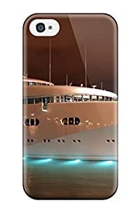 Anti-scratch And Shatterproof Beautiful Yacht Night On Water Phone Case For Iphone 4/4s/ High Quality Tpu Case