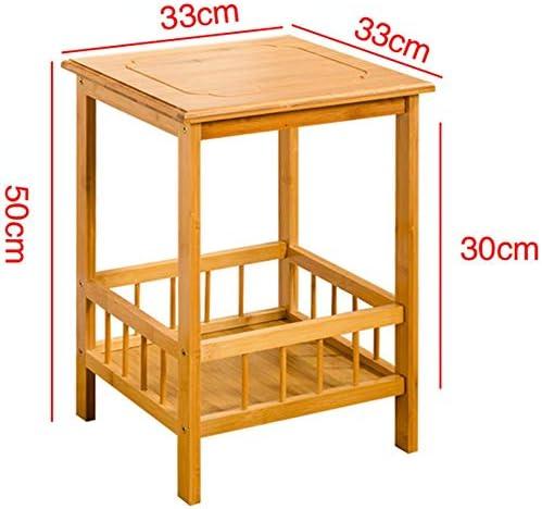 HANSHAN Mesas Mesa Lateral, Bambú Sala De Estar Sofá Lateral ...