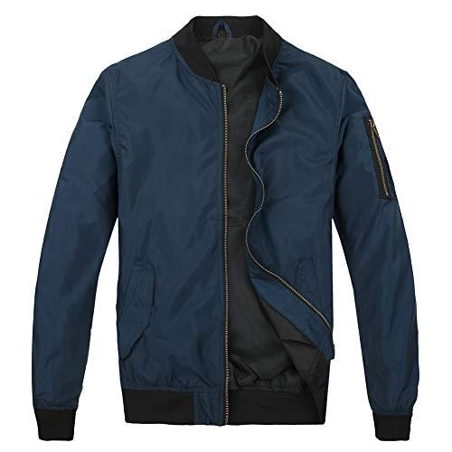 MADHERO Mens Bomber Jacket Lightweight Slim Fit Softshell Windbreaker