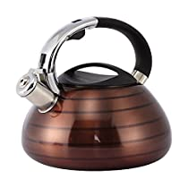 Stove Top Tea Kettle - Stainless Steel Whistling Kettle for Teas, Coffee - 3L
