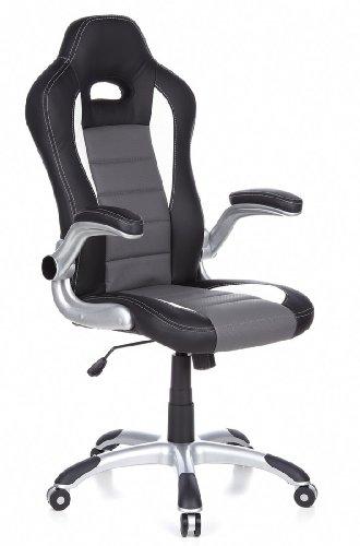 hjh OFFICE 621710 Gaming Stuhl / Bürostuhl RACER SPORT schwarz / grau