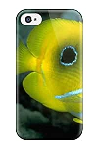 Rugged Skin Case Cover For Iphone 4/4s- Eco-friendly Packaging(animal Wild Fish)