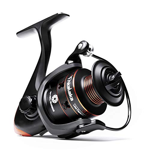 Akataka Spinning Reel - Affordable Powerful Spinning Fishing Reels, Ultra Smooth 10+1 Stainless BB, Left/Right Interchangeable Metal Handle, High Capacity Aluminum Spool (3000)