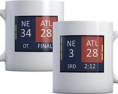 28-3 Comeback Mug (34-28 on other side) New England Champions Coffee Mug (Best Football Comeback Ever)