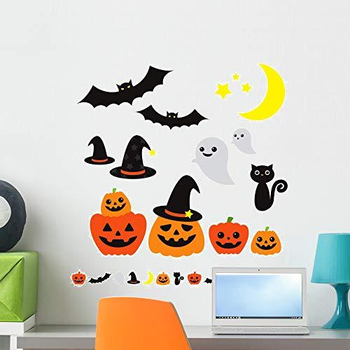 Wallmonkeys Halloween Wall Decal Sticker Set Peel and Stick Graphic (24 in W x 23 in H) WM44811 -