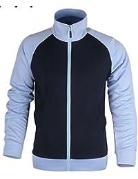 Mens Running Jogging Pinstripe Warm Up Jacket Gym Wear