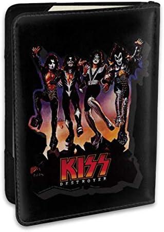 Kiss Band キッス バンド パスポートケース メンズ 男女兼用 パスポートカバー パスポート用カバー パスポートバッグ ポーチ 6.5インチ高級PUレザー 三つのカードケース 家族 国内海外旅行用品 多機能