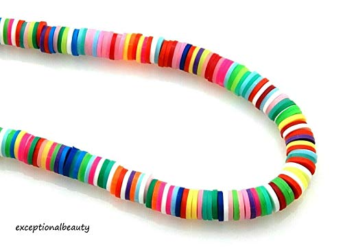 300 Fimo Polymer Clay 6mm Katsuki Assorted Colors Slice Heishi Spacer Beads 6mm Round Spacer Bead