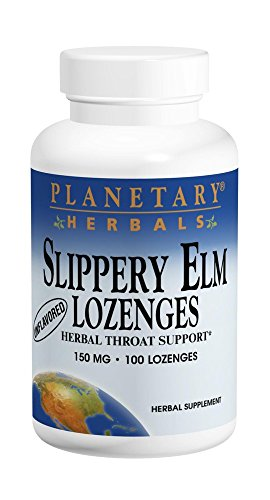 - Planetary Herbals Slippery Elm Tangerine Lozenges, Herbal Throat Support, 100 Lozenge