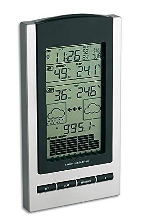 TFA Dostmann estación meteorológica Gaia 35.1083 eléctrica, negro con baterías: Amazon.es: Jardín