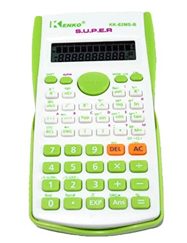 Scientific Calculator, Engineering Calculator, 2-line Display, for High School Students, College Students and Professionals (Green)