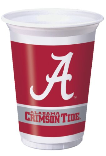 Alabama Crimson Tide Plastic 8 Count