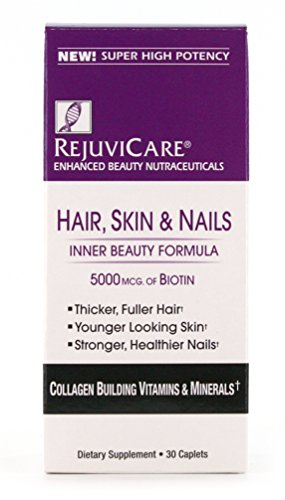 Rejuvicare Hair, Skin & Nails Beauty Formula with Biotin, Collagen Building Vitamins and Minerals, 30 (Collagen Building)