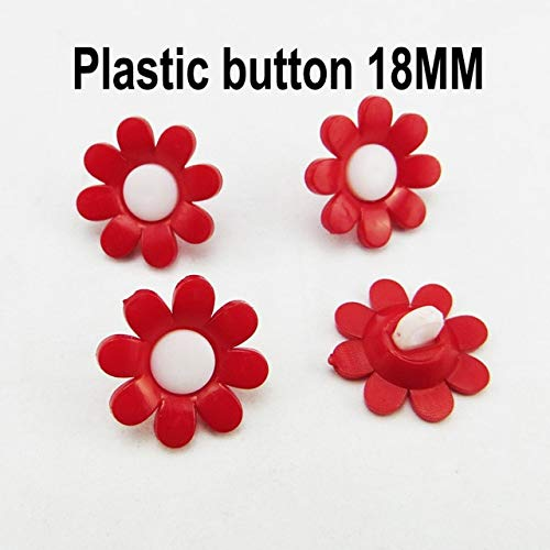 (Maslin 100PCS Fruit red Series Cartoon Color Dyed Plastic Cartoon Buttons Kid Toy Sewing Clothes Accessory Strawberry Button P-246 - (Color: 15))