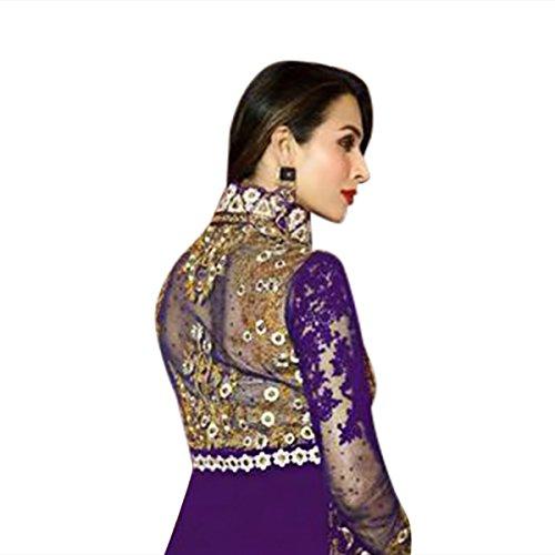 Sposa Bollywood Vestitit Hijab Donna Kamiz Stile Uomo Malaika 9215 Anarkali Corpetti Musulmana Colorato Kameez Pakistano Ethnic Indiano Purple Orbace Emporium Suit Salwar Hqt64t